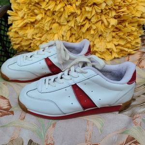 Leather contrasting Sneakers, White, size 8